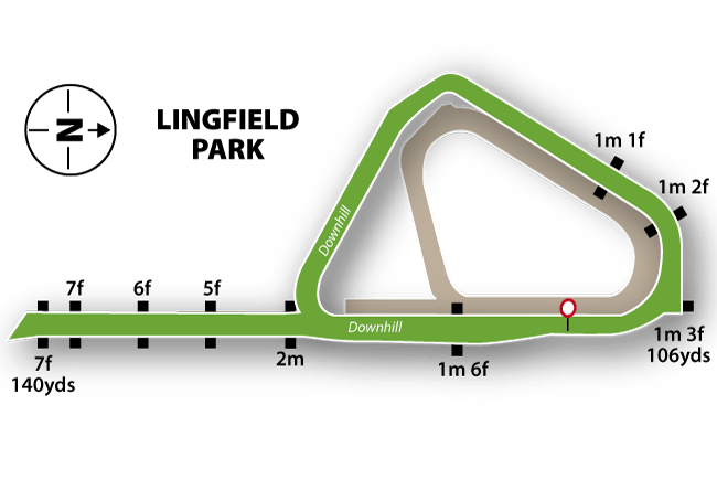 Lingfield Flat Track Course Map