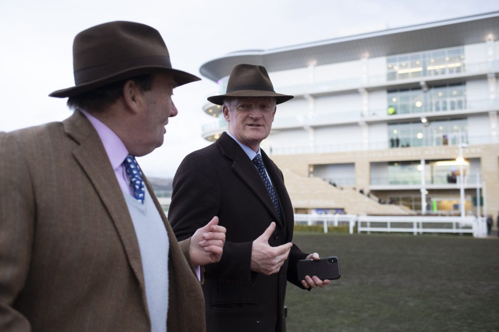 Nicky Henderson & Willie Mullins at the 2019 Cheltenham Festival
