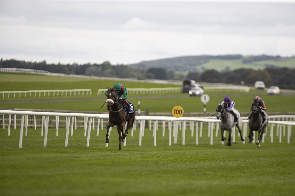 Kastasa (Andy Slattery) wins the Loughbrown Stakes. Curragh Photo: Patrick McCann/Racing Post 28.09.2019