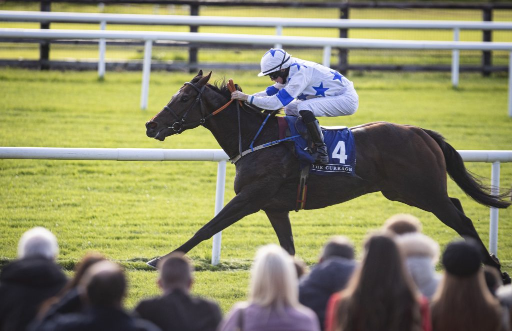 Make A Challenge and Joe Doyle wins the Waterford Testimonial Stakes (Listed). The Curragh Photo: Patrick McCann/Racing Post 13.10.2019